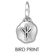 Bird Print Charm
