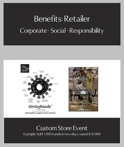 Custom Store Event/Retailers Give Back