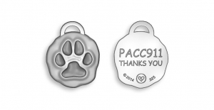 PAW charm with custom Back