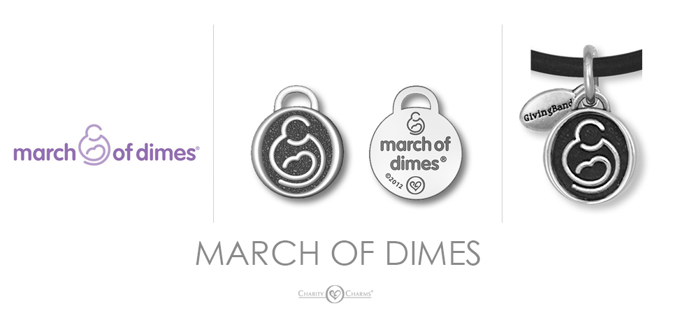 March of Dimes logo charms