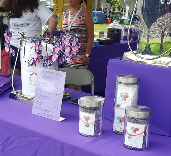 charity charm bracelets Catherine's Butterfly Party Display
