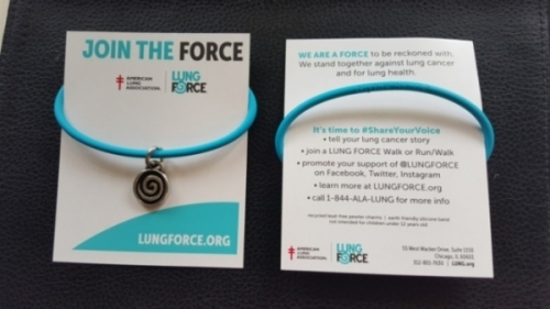 LungForce GivingBand and Carding