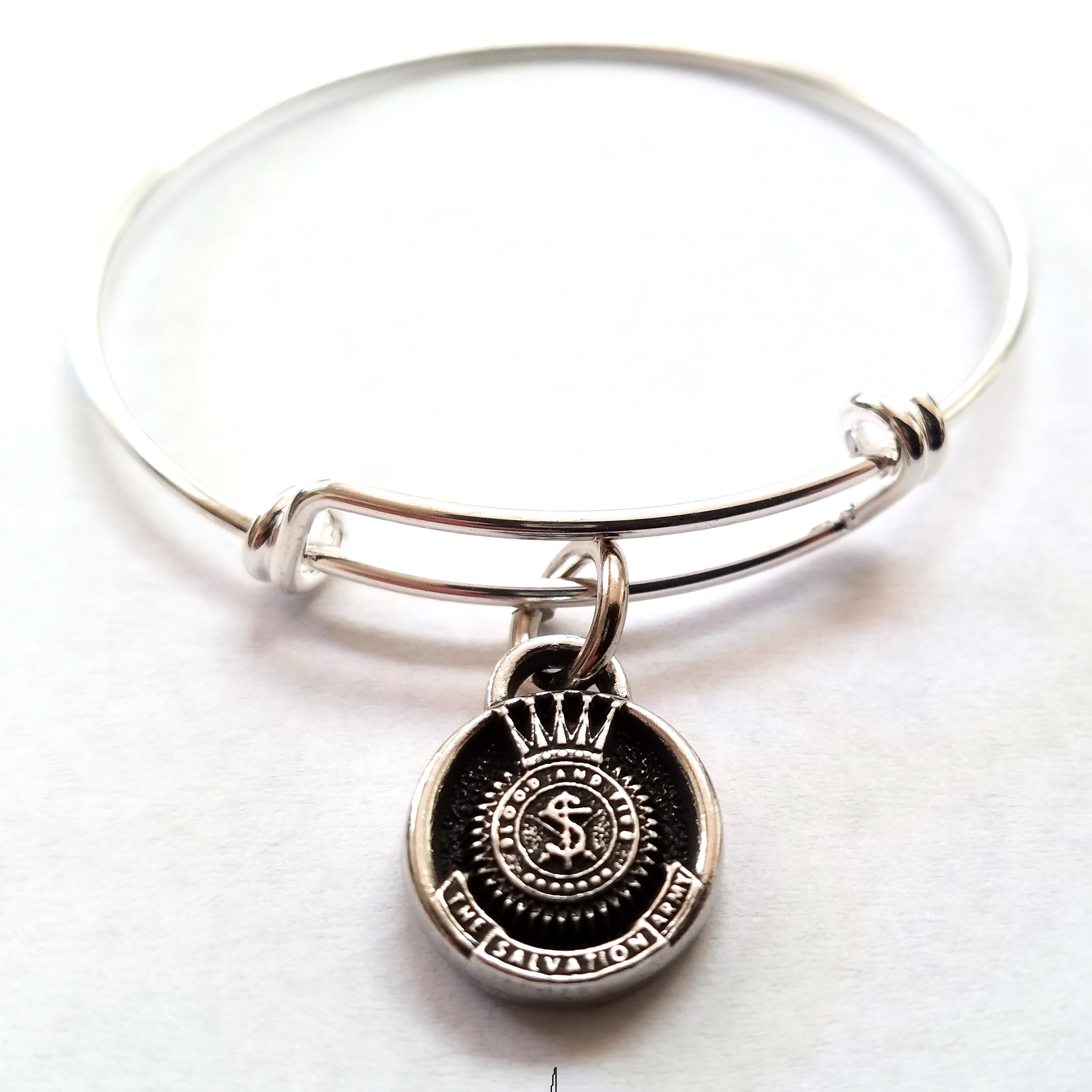 SA Crest Bangle Bracelet
