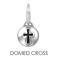 Domed Cross Charm