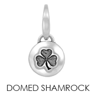 Domed Shamrock Charm