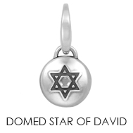 Domed Star of David Charm