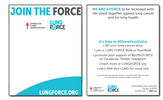 Lung Force Card