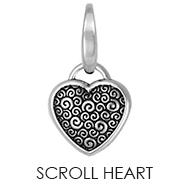 Scroll Heart Charm