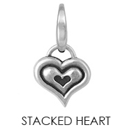 Stacked Heart Charm