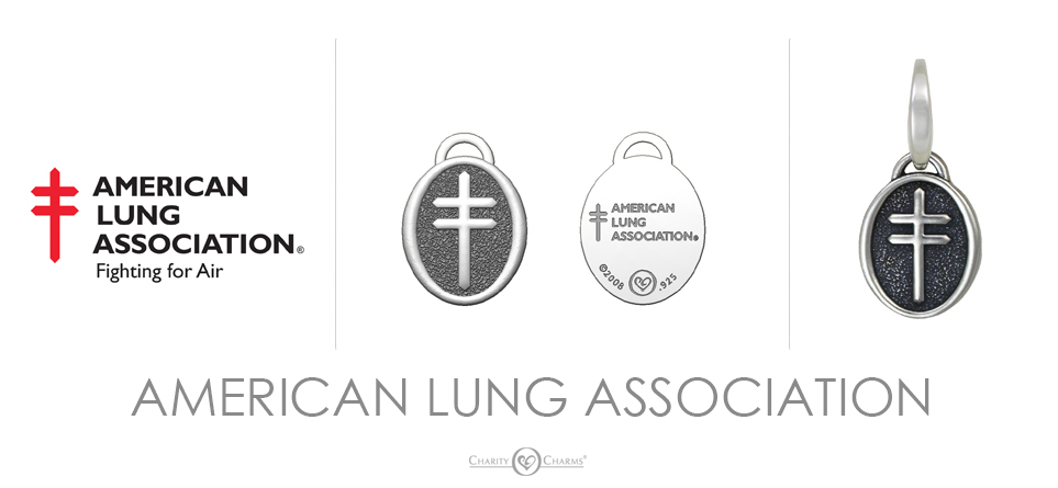 American Lung Association logo charms