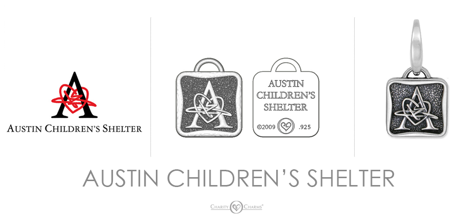 Austin Children's Shelter logo charms