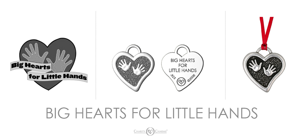 Big Hearts Little Hands logo charms
