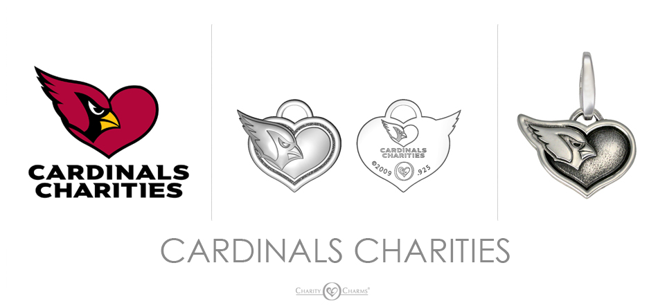 Cardinals Charities logo charms