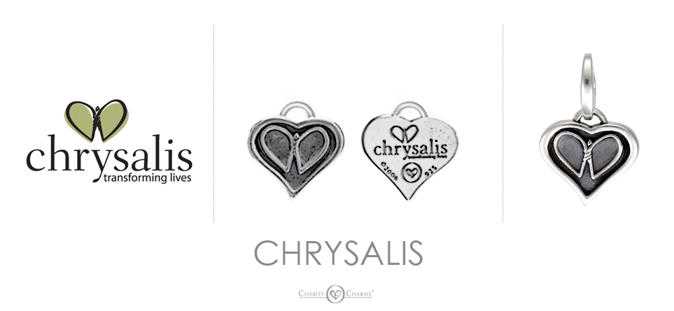 Chrysalis logo charms
