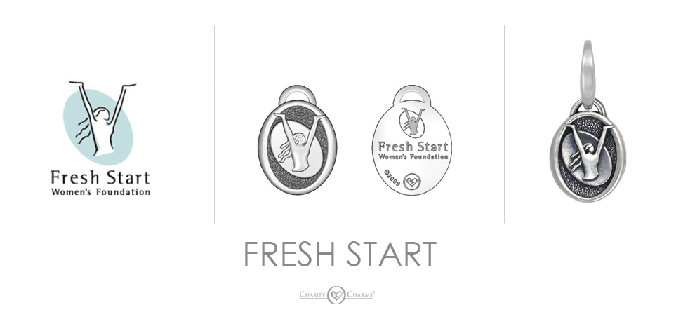 Fresh Start logo charms