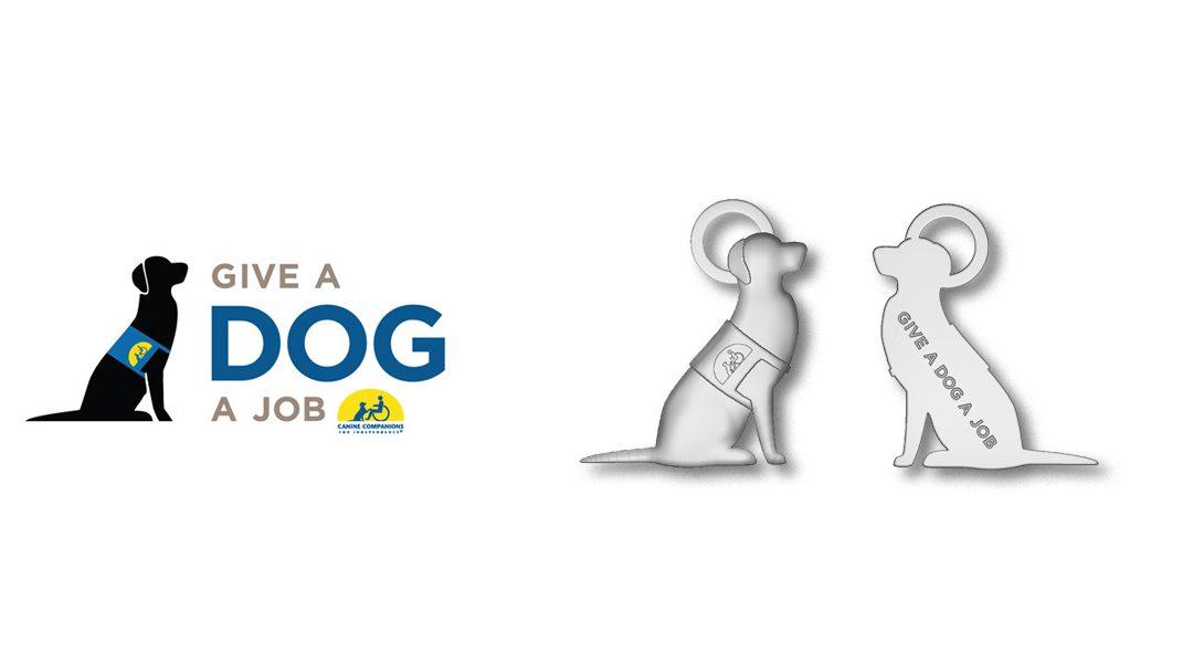 Custom Logo Charms to Help Give a Dog a Job!