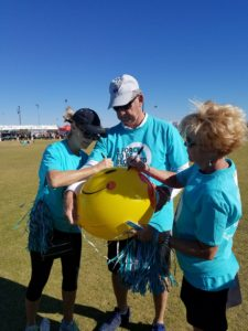 lung force phoenix walk memorial balloon group