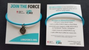 lung force givingband bracelet