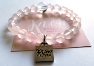KNOW Tribe bracelet and card