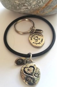 hearts of stone big hearted charm keychain and bracelet