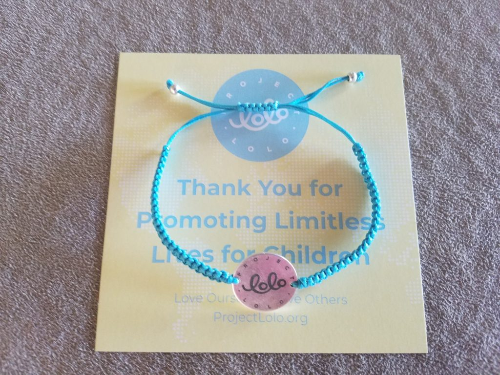 project lolo cause bracelets packaging