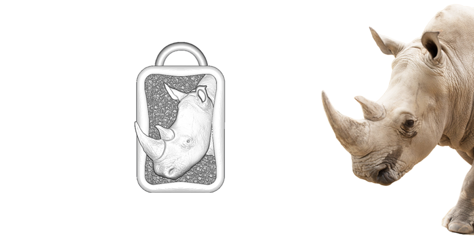 phoenix zoo custom animal charms rhino