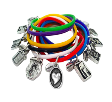 Custom Logo Charm Bracelets For Charities Causes And Campaigns