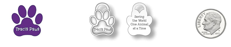 traci's paws fundraising bracelets charm render