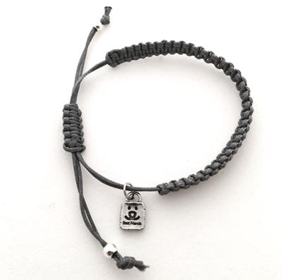 custom macrame bracelets with mini best friends charm