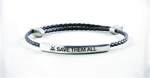 b'strong pewter message bracelets
