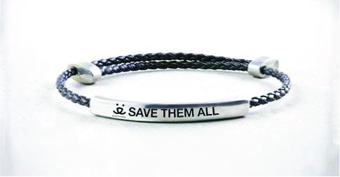 b'strong pewter message bracelets