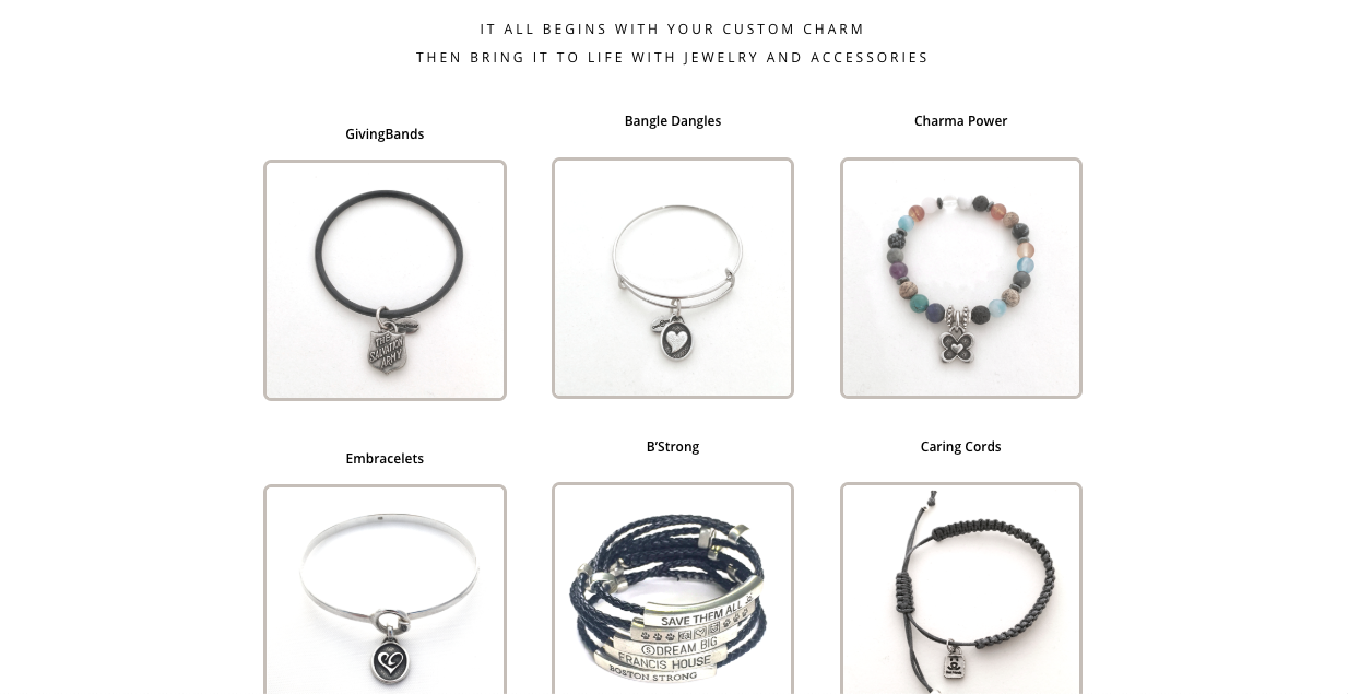 charity charms products