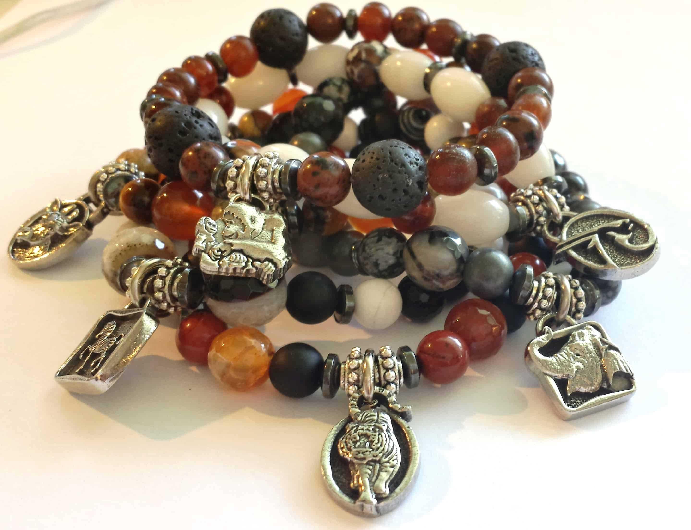 phoenix zoo gemstone charm bracelets