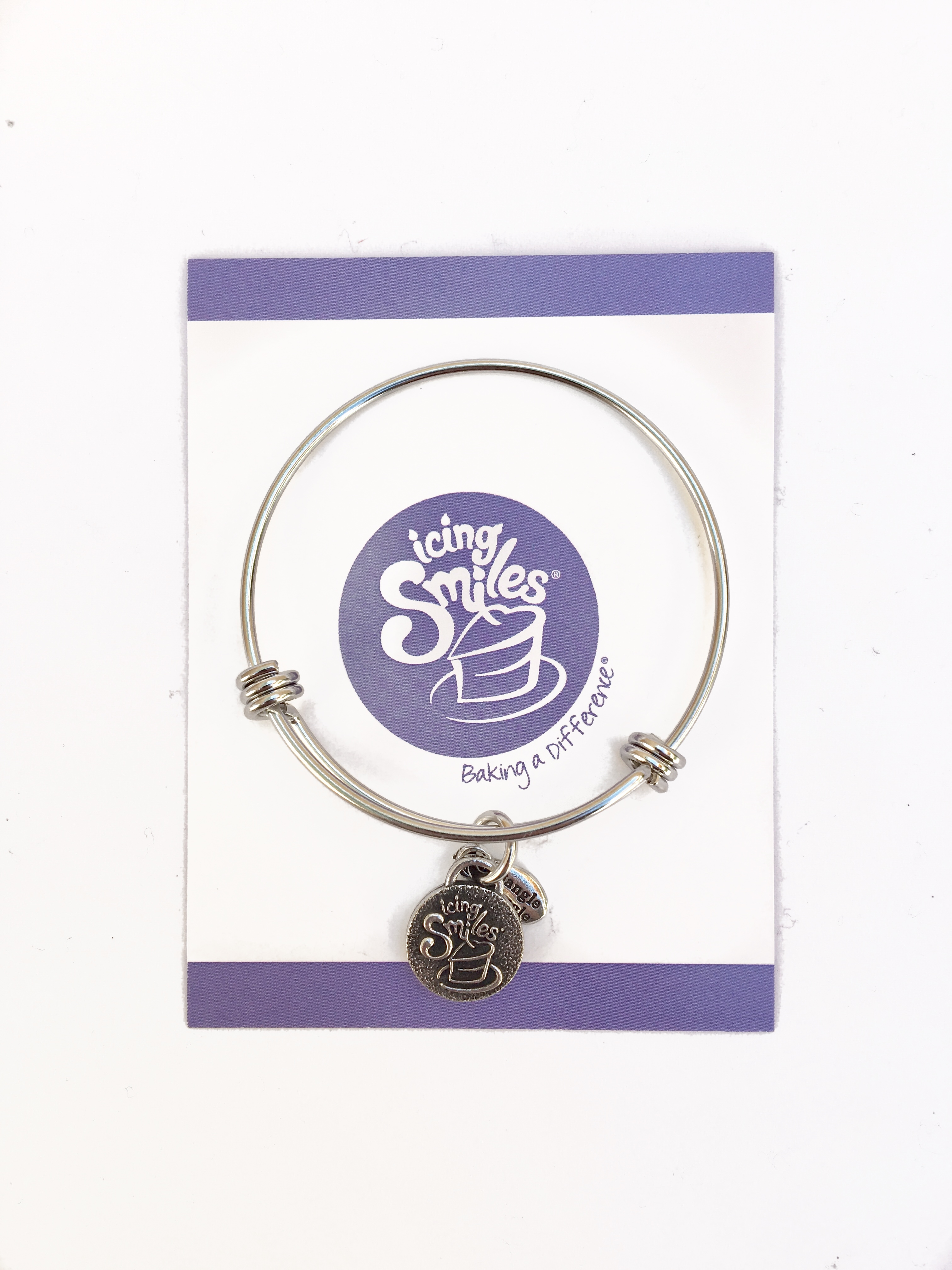 fundraising bangle charm bracelets icing smiles