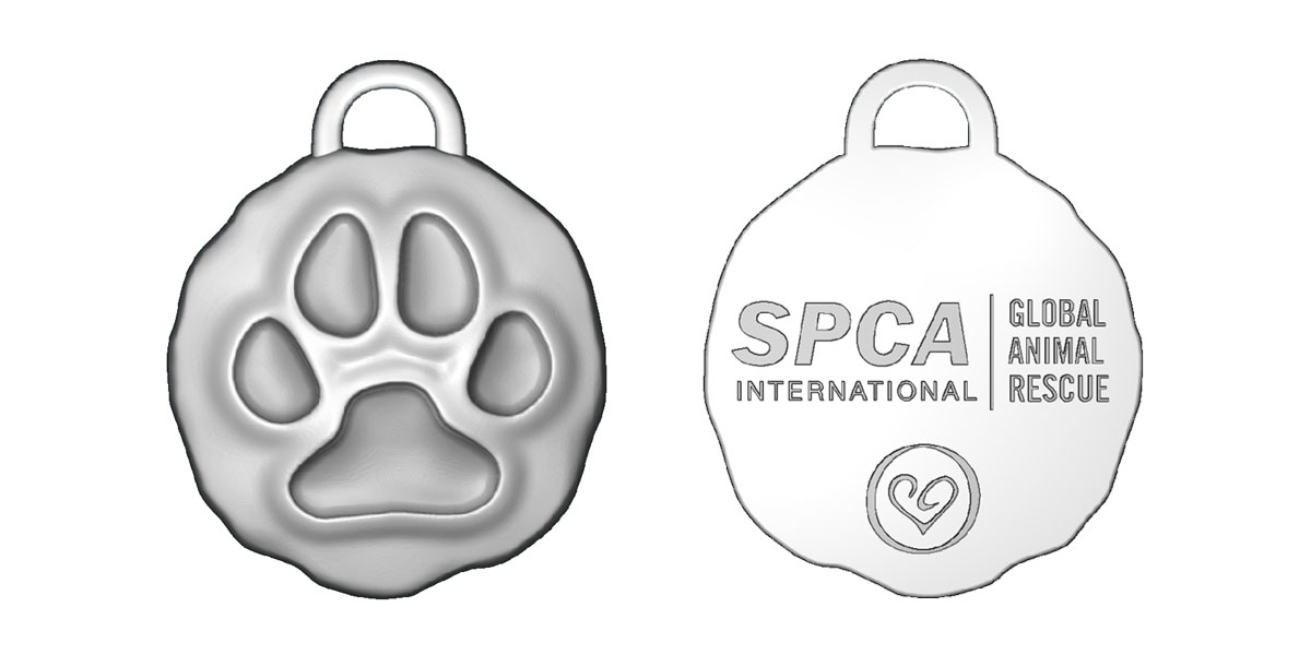 spca international animal charity bracelets paw charm
