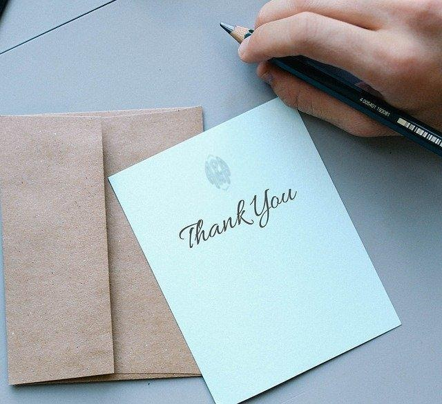 5 ways to engage donors - thank you note